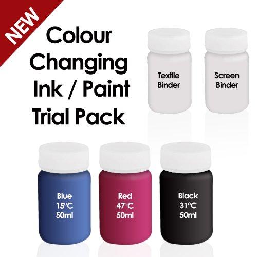 Farbwechsel Tinte Farbe–Thermochrome Tinte–Trial/Anfänger Pack–Kann verwendet werden, auf Papier, Pappe und Textilien