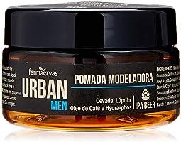 Pomada Modeladora Urban Men IPA, Urban, Branca Transparente, 50G