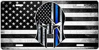 thin blue line spartan shield