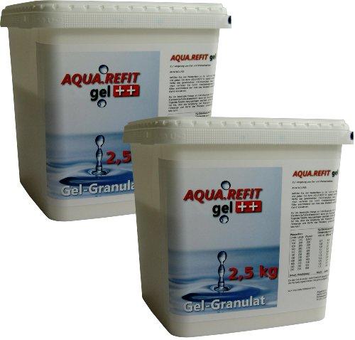 AQUA REFIT Wasserkern Vergelung in Wasserbetten, Gelbetten - Wasserbett Gel Granulat Pulver (5 kg)