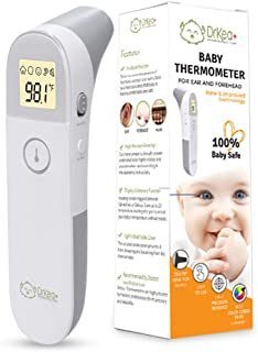 Baby Thermometer - Ear and Forehead Thermometer for Fever - Clinical Thermometer for Newborn and Adults - Latest Upgraded Infrared Lens Technology for Accuracy - Accurate Thermometers for Home Use