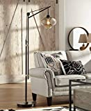 Calyx Industrial Downbridge Floor Lamp Bronze Cognac Glass Dimmable Antique LED Edison Bulb for Living Room Reading Office - Franklin Iron Works