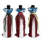 3 pièces sacs de couverture de bouteille de vin américain Vintage Images bouteille de vin sacs-cadeaux pour dîner Table Champagne
