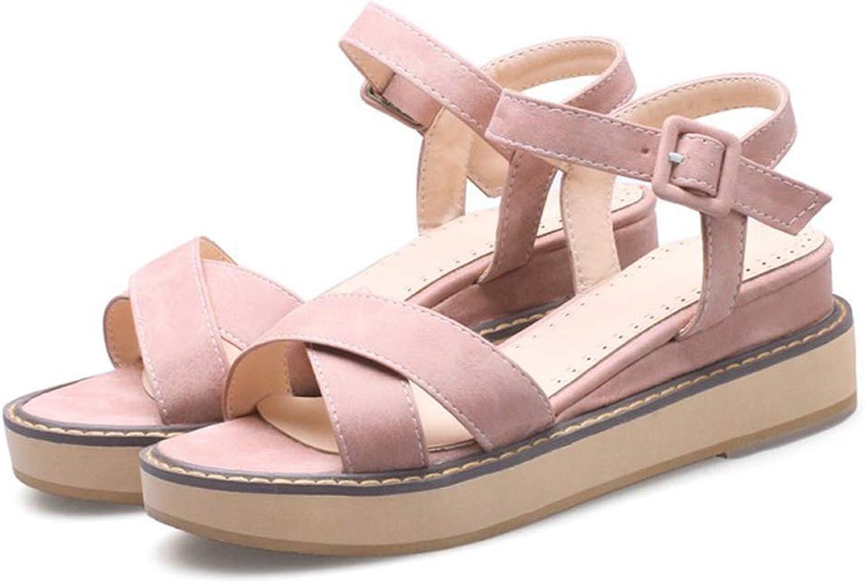 PFMY.DG Frau Offener Zeh Sandalen, Sommer Schaum Schnalle Mode Einzelne Schuhe, Absatzhhe 5 cm