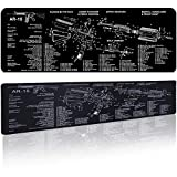 Extra Large Gaming Mouse Pad Gun Cleaning Mat 0.2 Inch Ultra Thick Stitched Water&Solvent Resistant Non-Slip Mousepad for Laptop PC Desk/Rifle Shotgun/Handgun Gift for Father/Friend/Gun Fans