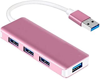 JUNPE USB a 4 Porte Type-C for 4 Porte 3.0 Hub USB Hub Splitter Uno Trascinare 4hub Extender 5G BPS Plug & Play (Color : P...
