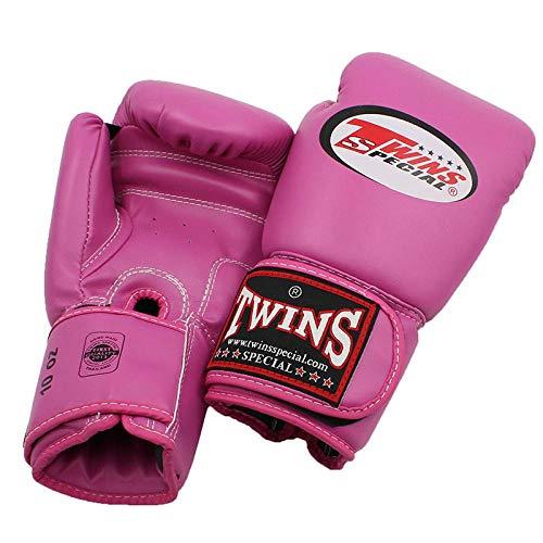 YSHOUT AS Twin gloves Kick Boxing gloves PU leather Sanda Sandbag training black boxing gloves 8 10 12 14 oz men women Muay Thai gloves@blue_14oz DS (Color : WHITE, Size : 10oz)