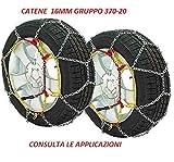 RICAMBIITALIA2017 Catene da Neve 16 mm Adatto per SUV E Fuoristrada Gruppo 370-20 Monta su GOMME 195...