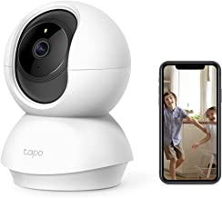 TP-Link Tapo Pan/Tilt Smart Wi-Fi Camera, 3MP, Motion Detection, Night Vision, SD Card Slot, Voice Control, High-Definitio...