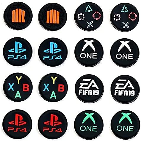 Einuz ABXY - Juego de 2 fundas para palanca de mando para el hogar (repuesto para PS5, PS4, PS3, PS2, Xbox One, Xbox One Slim Elite, Xbox 360 Slim Switch Pro Controller (F)
