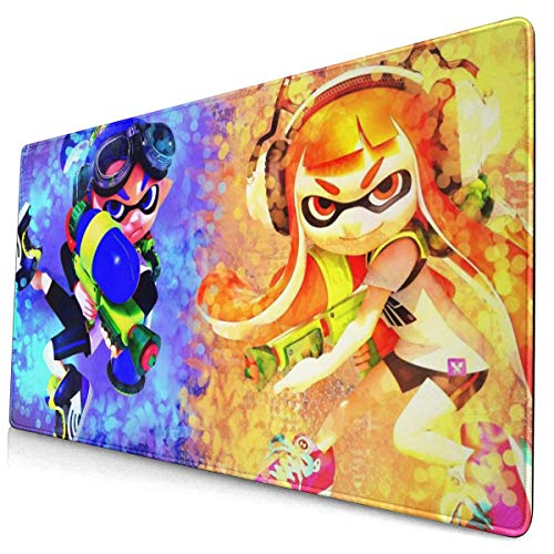 Splat-oon 2 Mouse Pad Extended Gaming Mouse Pad Long XXL Mousepad (29.5x15.8In) for Desktop, Laptop, Keyboard, Consoles