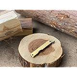 肥後守 肥後守ナイフ 青紙割込 真鍮鞘 特大 アウトドア 折り畳みナイフ DIY 木工