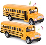 Think Wing School Bus Toy for Toddlers - 5 Inch 2 Set...