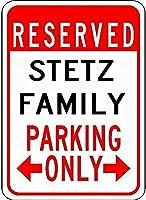 金属サインステッツ家族駐車場ノベルティスズストリートサイン