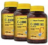Vitamina C-1000 mg + zinc 10 mg. 120 comprimidos. (Pack 3 unid.)
