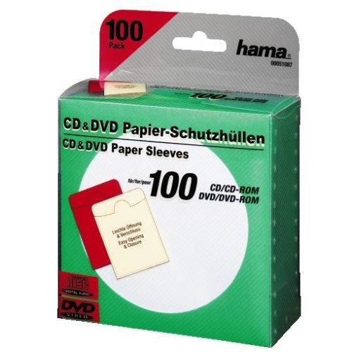 Hama CD/DVD-ROM Papierhüllen 100, Grün