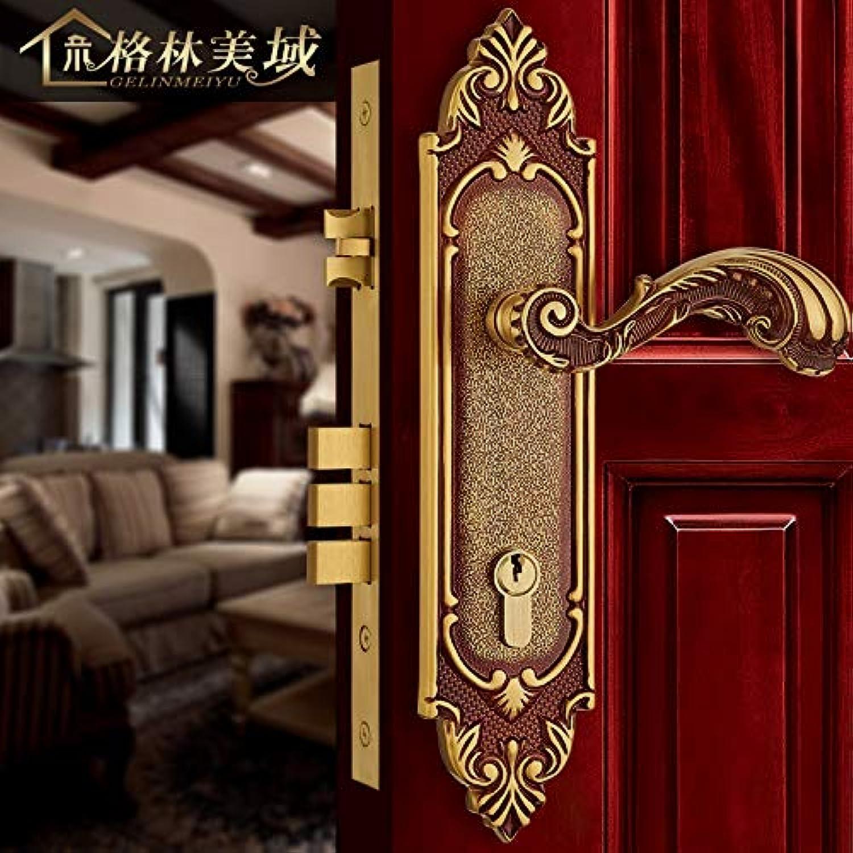 European Interior Door Lock Pure Copper Retro All Copper Room Door Lock Luxury Solid Wood Door Lock Mechanical Lock