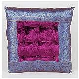 Casa Moro Orientalisches Sitzkissen Kissen Mar43 Lila 36x36 cm inklusive Füllung   Indian Style...