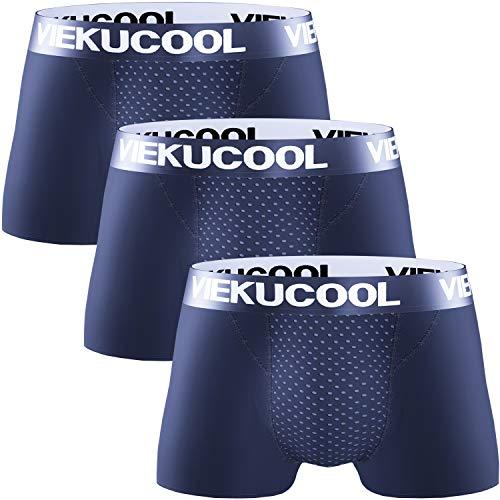【68マグネット 磁気パンツ】増大パンツ ボクサーパンツ メンズ パンツ 下着 男性 前閉じ 3枚セット (ネイビー, 日本サイズLL)