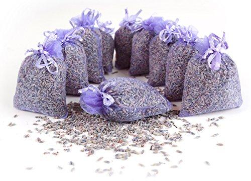 Quertee 20 x Lavendelsäckchen mit echtem französischen Lavendel - Insgesamt 200 g Lavendelblüten