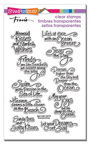 Stampendous SSC1246 Clear Stamp Set, Ocean Wisdom