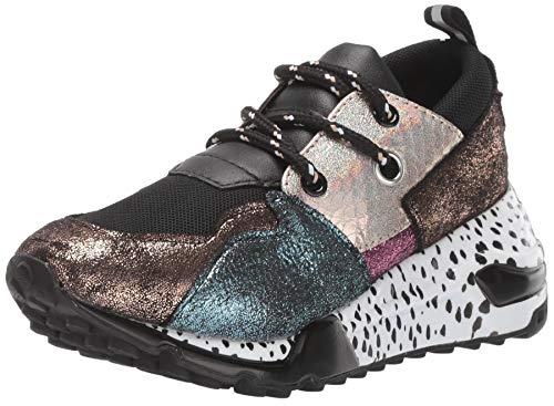 Steve Madden JCLIFF 164 Zapatillas de Deporte para Niñas, Color Plata Multicolor, 22