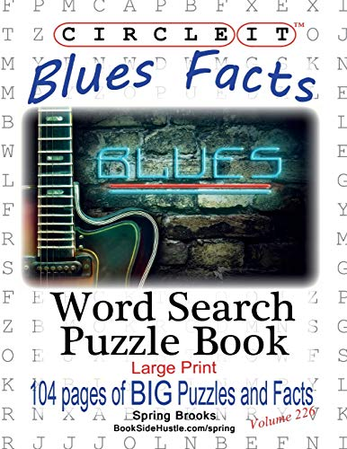Circle It, Blues Facts, Word Search, Puzzle Book