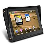 LLC-POWER 7 Inch Waterproof Motorcycle GPS Navigation System, Provide Free Lifetime Transportation & World Map, Voice Control & Hands-Free Calling, Support 3D Map