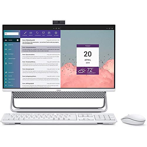 """Dell Inspiron All in One 5490 23.8"""" FHD Touchscreen, 10th Gen Intel Core i5-10210U Processor, 256 PCle SSD HD, 8GB DDR4 RAM, Win 10 Home, 15-15.99 inches, Model:i5490-5043SLV-PUS (Renewed)"""