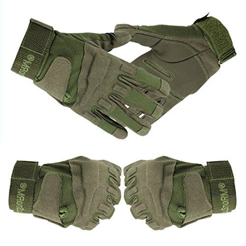 guanti caccia Yihya Traspirante Anti-Scivolo Guanti - Tattici Militari Sportivi Tactical Outdoor Sport Fitness Barretta Airsoft Pesca Palestra Caccia Equitazione Completa Finger Guanti Gloves --- army green - M