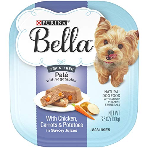 Purina Bella Grain Free, Natural Pate Wet Dog Food, With Chicken, Carrots & Potatoes - (12) 3.5 oz. Trays