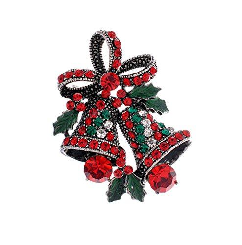 Dosige Navidad Broche Pin Insignias 13 Especies Broche de Cristal Joyeria Árbol de Navidad Campanas de Navidad...