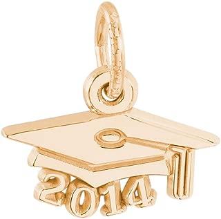 Rembrandt Charms, 2014 Graduation Cap, Engravable