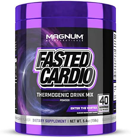 Magnum Nutraceuticals FASTED Cardio Thermogenic Energizing Fat Burner Powder Gushing Grape 40 product image