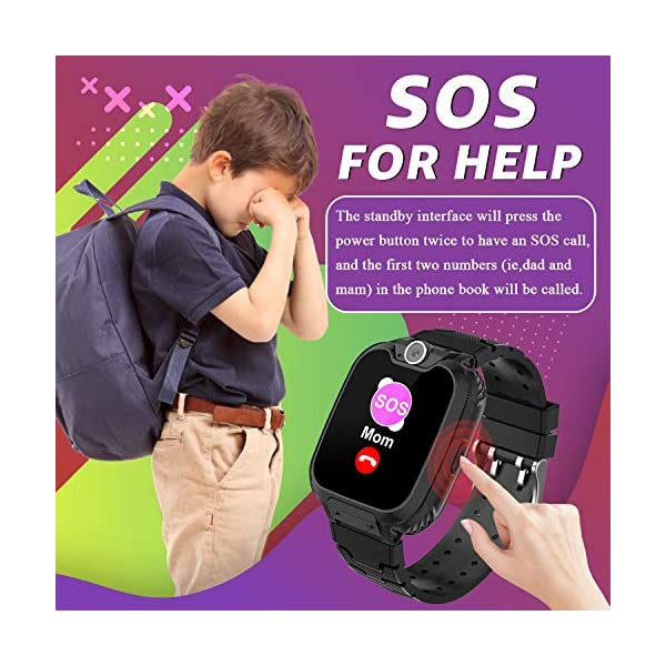 Children Smart Watches- Smart Watch Phone for Boy Girl Music Kids Watch Funny Game HD Touch Screen Sports Kid Smartwatches with Call Camera Recorder Alarm Clock Music Player, Suitable for Aged 2-12 5