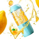 Portable Blender, USB Rechargeable Electric Juice Extractor Machines, 380mL Personal Juicer Cup, Ba