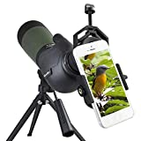Gosky Telescopio Terrestre 20- 60X 80 Spotting Scope, Con Zoom Resistente al Agua 20x-...