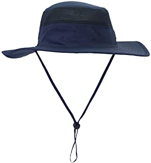 Man Outdoor Breathable Quick-dry Sun Hat Bucket Caps Fishing fisherman Hats - Blue