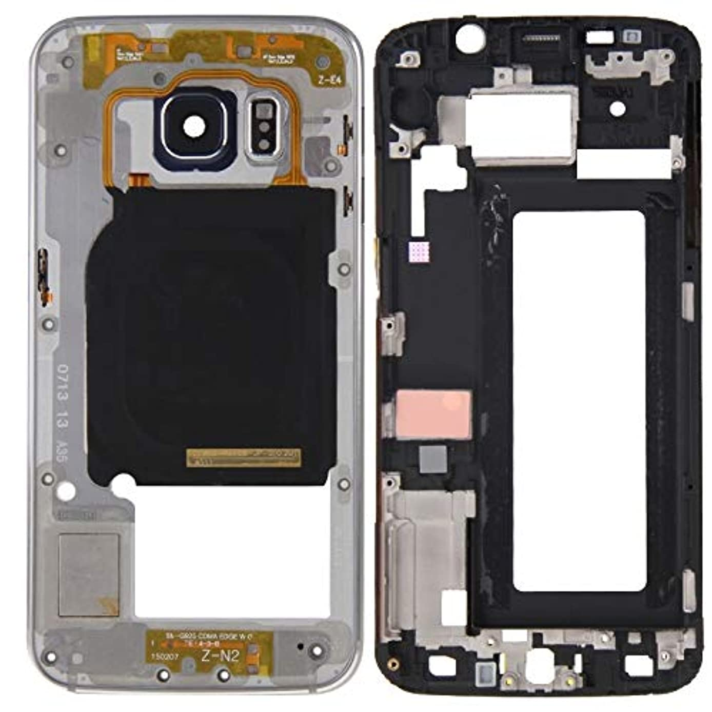TTDY Professional Full Housing Cover (Front Housing LCD Frame Bezel Plate + Back Plate Housing Camera Lens Panel) for Galaxy S6 Edge / G925(Grey) Parts (Color : Grey)