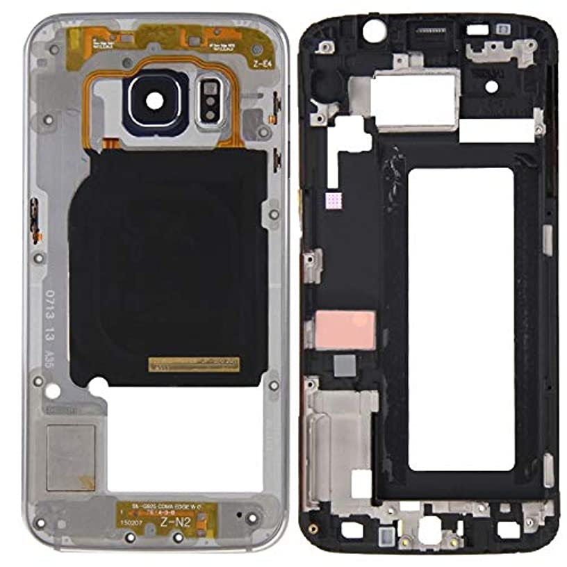 Middle Frame Baffle PH Full Housing Cover (Front Housing LCD Frame Bezel Plate + Back Plate Housing Camera Lens Panel) for Galaxy S6 Edge / G925(Grey) Front Off-Screen Glass Lens (Color : Grey)