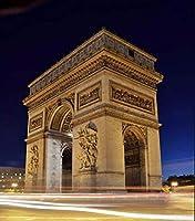 DIY数字油絵 塗り絵キット パズル油絵 Arc de Triomphe デジタル油絵 手塗り 数字キットによる絵画 絵かき インテリア 壁飾り ホームデコレーション 40x50cm(額縁なし)