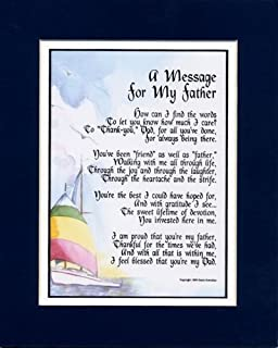 A Message For My Father A Father's Day Gift Birthday Present Poem For A Dad Father. #19,