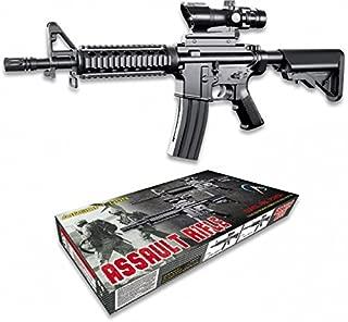Replica M16 M4A1 Counter Strike Arma Larga Airsoft Aire Suave 6 mm Potencia 0,50 Julios Airsoft Paintball Caza Supervivencia bushcraft Senderismo Camping Outdoor 38317 + Portabotellas de regalo