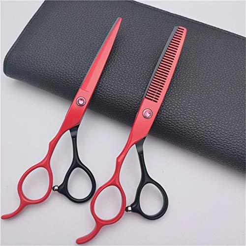 ULIN Tijeras de peluquería para Zurdos de 6 Pulgadas, Juego de Tijeras de peluquería para Cortar el Cabello, Tijeras para Adelgazar, adecuadas para peluquerías, salón y hogar