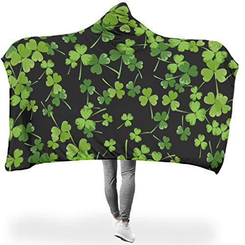 O2ECH-8 universeel patroon flanellen deken fleece ultra zachte robe hoodies - met capuchon deken voor volwassenen/vrouwen/mannen
