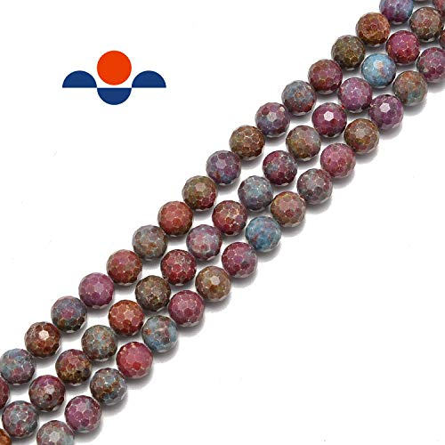 Ruby in Kyanite Faceted Round 6mm 15.5' per Strand