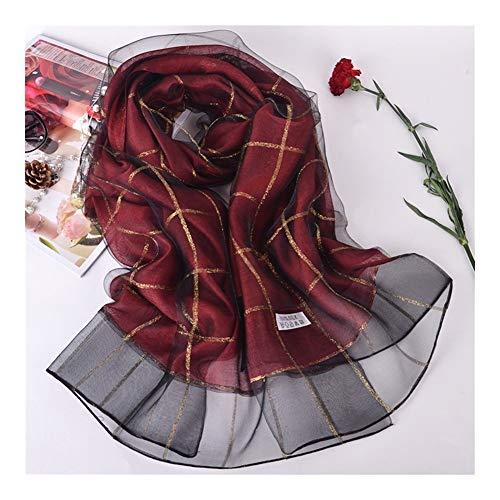 ULIULINH dames zakdoeken van moerbeizijde dubbele sjaal geruit strandhanddoek voor koud klimaat