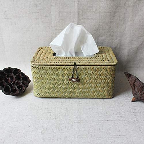 COJJ Retro creative tissue box car tissue box handmade crafts rectangular straw paper towel box 2