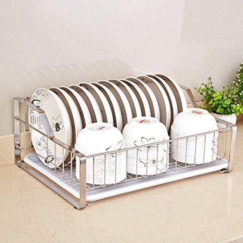 Étagère de bol 304 baguettes en acier inoxydable à une seule tranche cadre incorporé cadre cadre vaisselle égouttoir panier de cuisine 44 * 33 * 17cm (edition : A, taille : 44 * 33 * 17CM)
