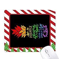 パイナップルlgbtレインボーフラッグの引用 ゴムクリスマスキャンディマウスパッド